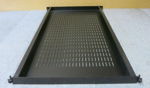 "1U 29"" Depth Universal Fixed Server Rack Data Comms Cabinet Black Vented Shelf"